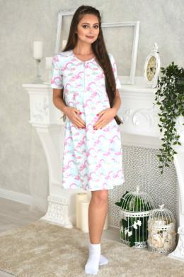"""Платье домашнее """"Радуга"""" для беременных и кормящих"""
