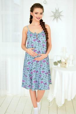 """Сорочка для беременных и кормящих """"Маки"""""""