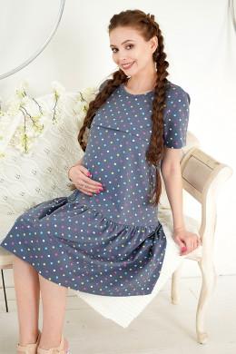 """Платье для беременных и кормящих """"Горошек"""""""