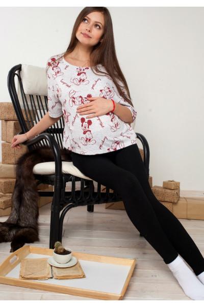 Лосины для беременных на (широком поясе)