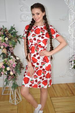 """Домашнее платье для кормления """"Сердечки"""""""