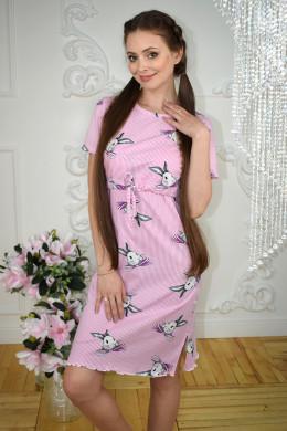 """Домашнее платье для кормления """"Зайцы"""""""