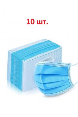 ПОВЯЗКА НА ЛИЦО ОДНОРАЗОВАЯ - 10 ШТ